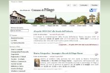 Home Page del sito del Comune di Filago