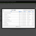 Choosing an article from the control panel, the title can be changed