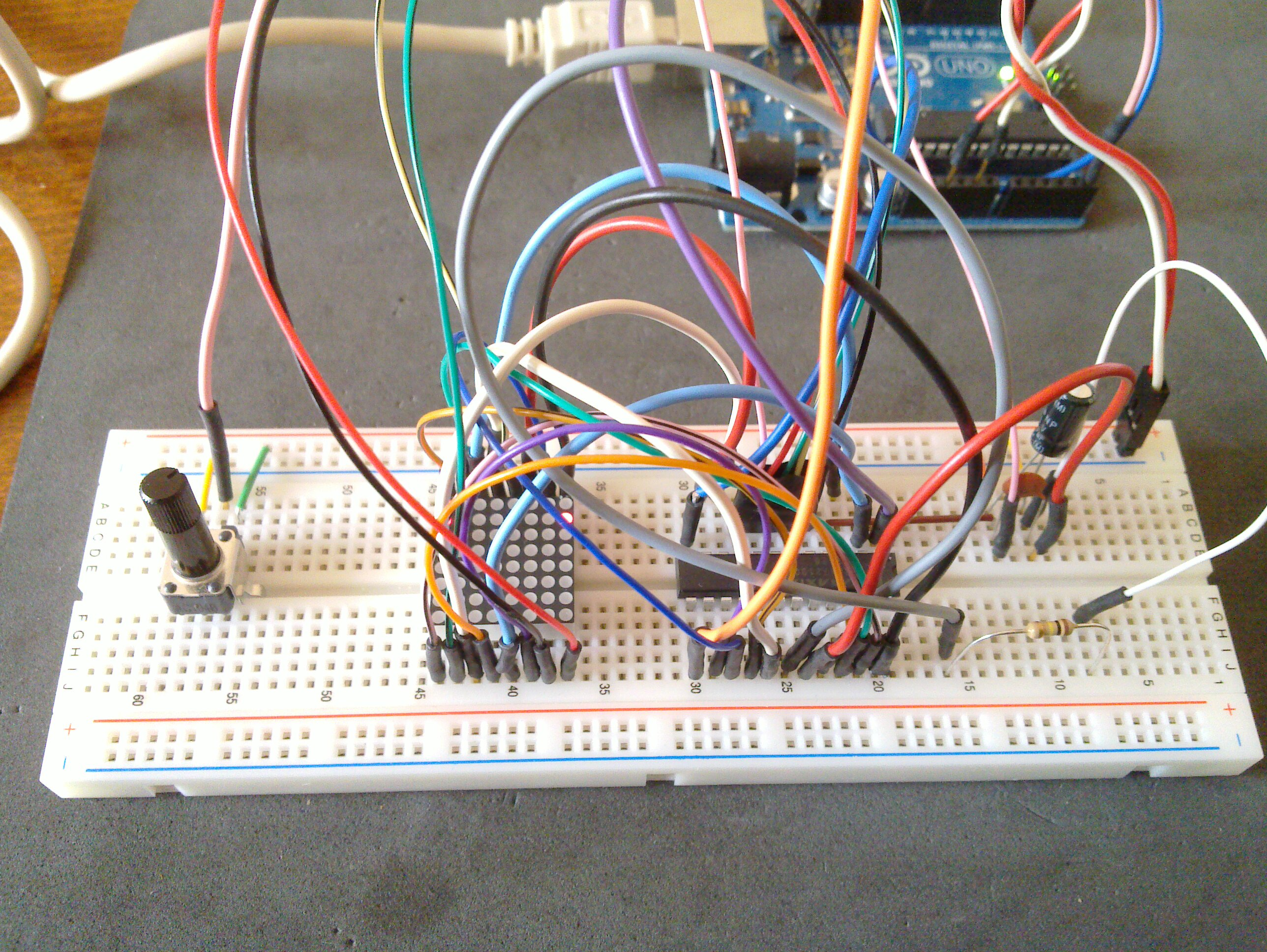 Arduino Pong With 8 U00d78 Led Matrix And Max7219