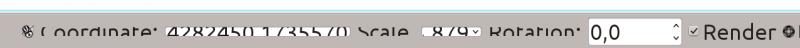 QGIS statusbar: unreadable on HiDPI