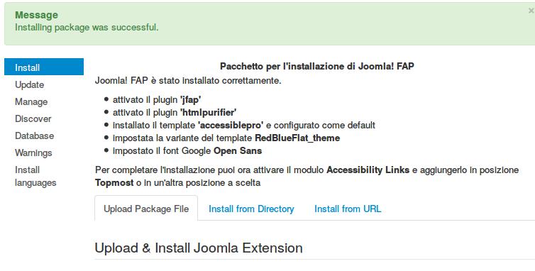 AccessiblePro Joomla! FAP installer