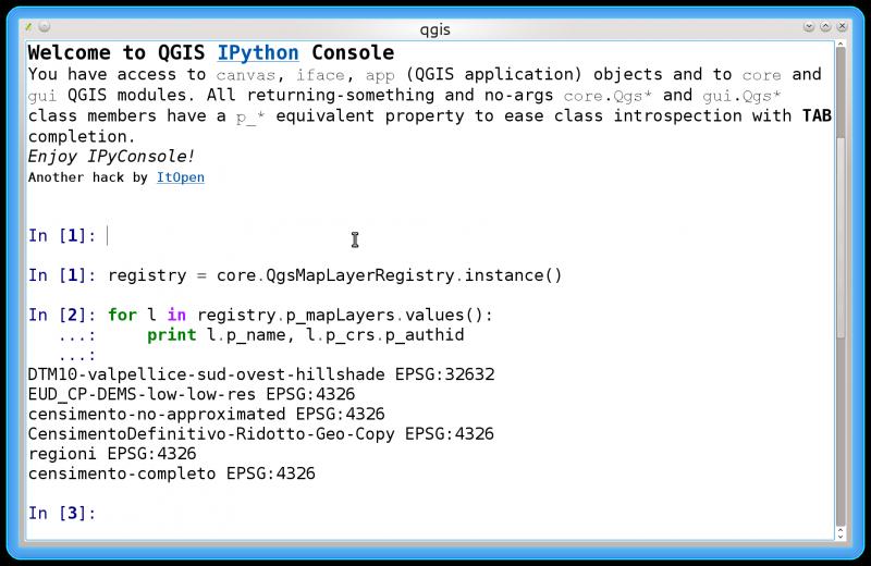 IPyConsole QGIS plugin